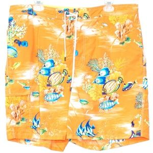 Polo Ralph Lauren Mens Swim Trunks Fish XL H1